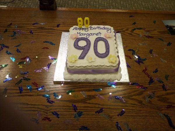 Margaret Anderson's Birthday Cake